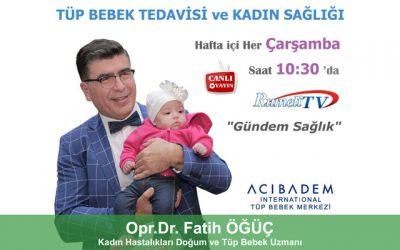 """RumeliTV """"Gündem Sağlık"""" Tüp Bebek Tedavisi Programı – Her Çarşamba"""