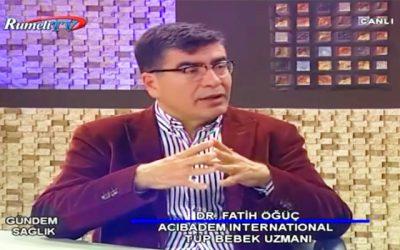 """""""Tüp Bebek Tedavisi ve Kadın Sağlığı"""" RumeliTV, Gündem Sağlık 31.05.2017"""
