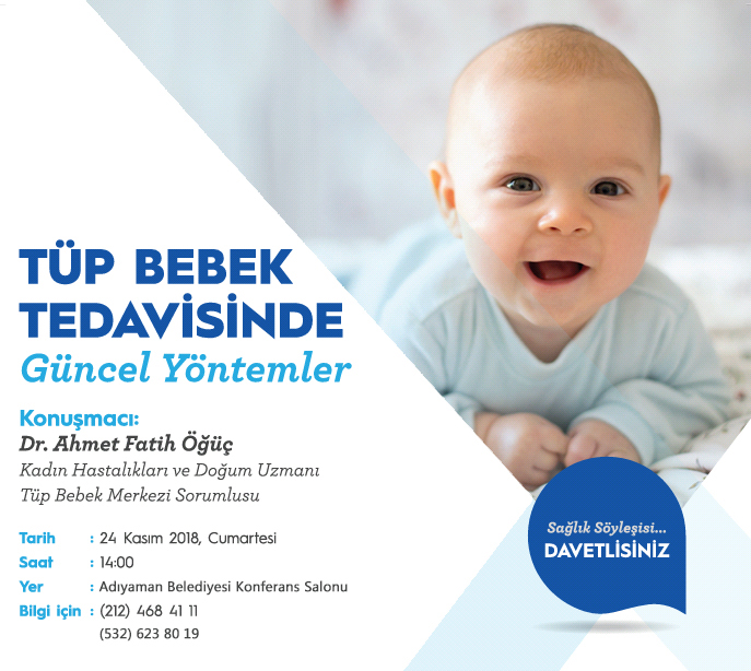 Tüp Bebek Tedavisi – Adıyaman Etkinliğimiz 24.11.2018